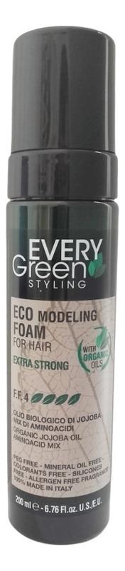 Экологическая моделирующая пена для волос Every Green Eco Modeling Froam For Hair Extra Strong 200мл