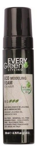 Экологическая моделирующая пена для волос Every Green Eco Modeling Froam For Hair 200мл