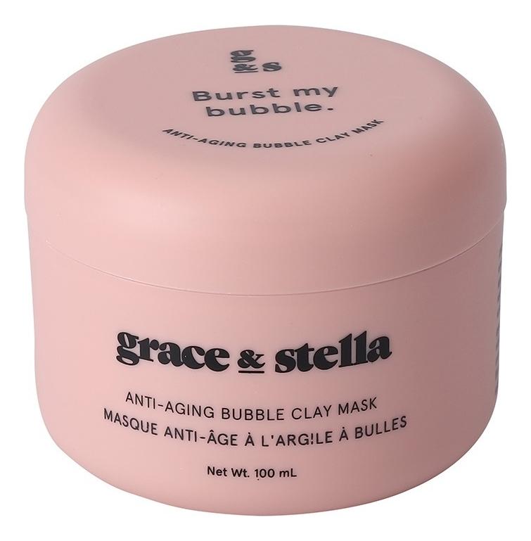 Купить Антивозрастная пузырьковая маска для лица с глиной Anti-Aging Bubble Clay Mask 100мл, Grace and Stella