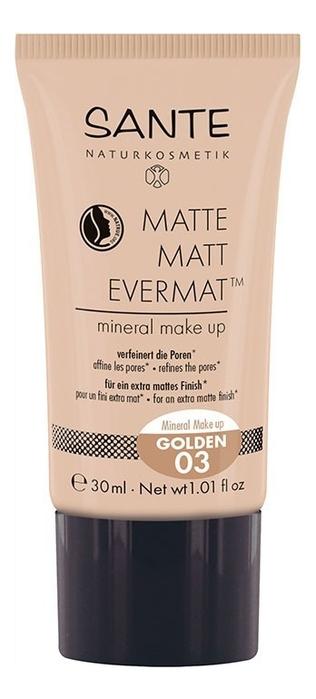 Купить Матирующий тональный крем для лица Matte Matt Evermat 30мл: No 03, Sante