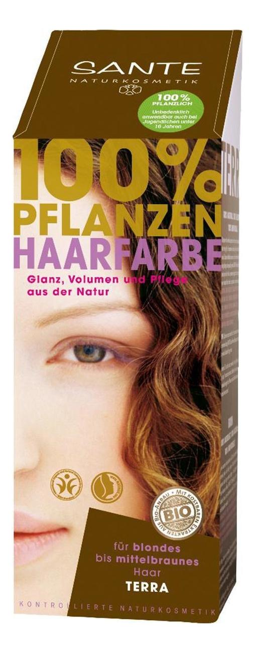Купить Растительная краска для волос 100% Pflanzen-Haarfarbe 100мл: Terra, Sante