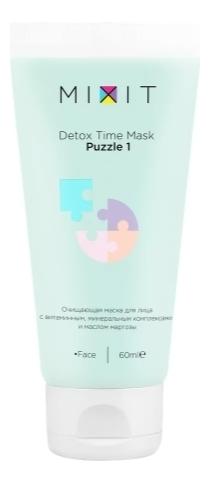 Купить Очищающая маска для лица Detox Time Mask Puzzle 1: Маска 60мл, MIXIT