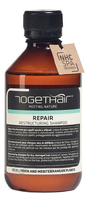 Восстанавливающий шампунь для ломких и поврежденных волос Repair Shampoo Restructuring 250мл недорого
