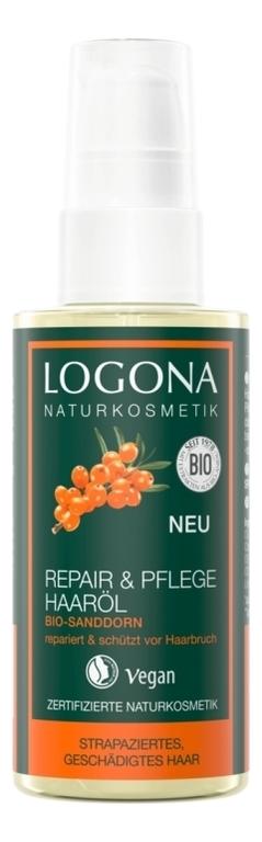 Фото - Восстанавливающее масло для волос с экстрактом облепихи Repair & Pflege Haarol Bio-Sanddorn 75мл косметика для мамы logona восстанавливающее масло для волос 75 мл