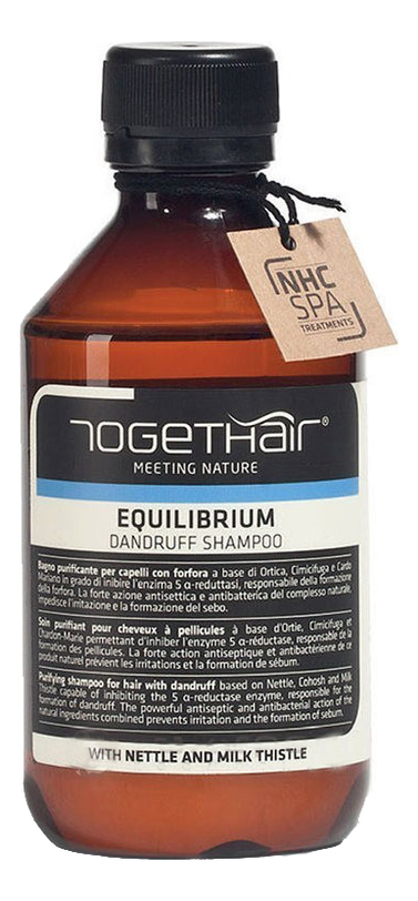 Купить Шампунь-детокс для волос против перхоти Equilibrium Shampoo Dandruff: Шампунь 250мл, TOGETHAIR