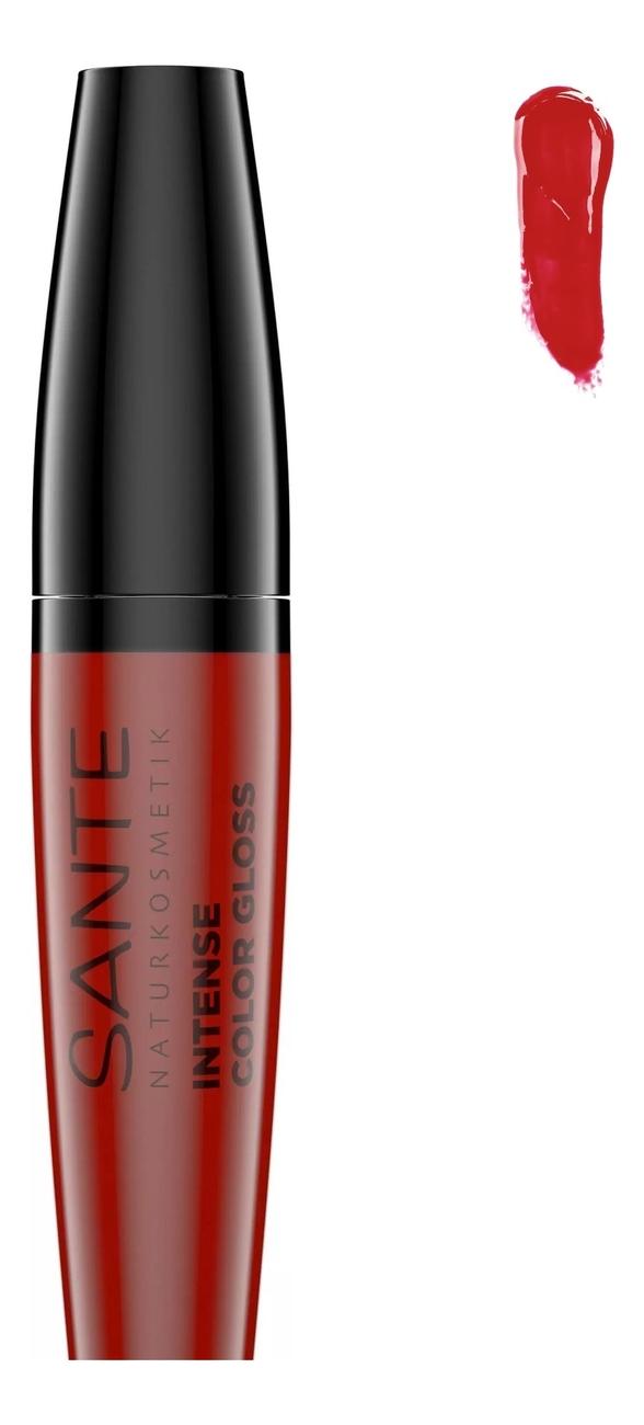 Купить Глянцевый блеск для губ Intense Color Gloss 9мл: 06 Infinite Ruby, Sante