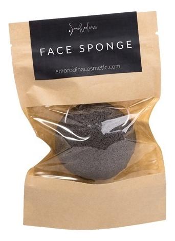 Купить Спонж конжаковый для умывания с бамбуковым углем Face Sponge, SmoRodina
