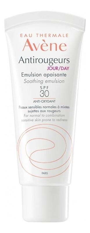 Купить Дневная увлажняющая эмульсия для лица Antirougeurs Jour Emulsion Apaisante SPF30 40мл, Avene