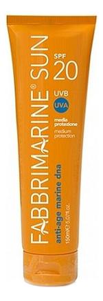Купить Солнцезащитное средство для тела с ДНК морских водорослей Media Protezione SPF20 150мл, Fabbrimarine