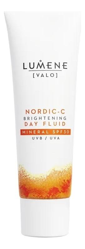 Фото - Дневной флюид для лица придающий сияние с минеральным фильтром SPF30 Nordic-C Valo Brightening Day Fluid Mineral 50мл очищающий гель скраб для лица придающий сияние nordic c [valo] 125мл
