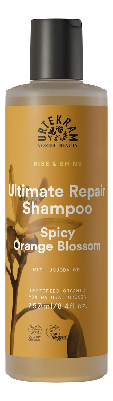Купить Шампунь для максимального восстановления волос с экстрактом цветка пряного апельсина Ultimate Repair Shampoo Spicy Orange Blossom: Шампунь 250мл, Urtekram
