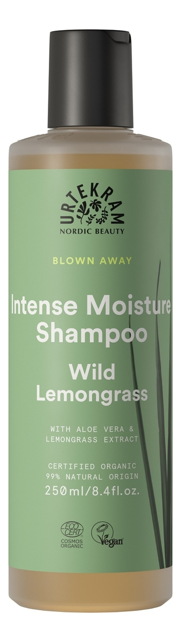 Купить Шампунь для интенсивного увлажнения волос Intense Moisture Shampoo Wild Lemongrass: Шампунь 250мл, Urtekram