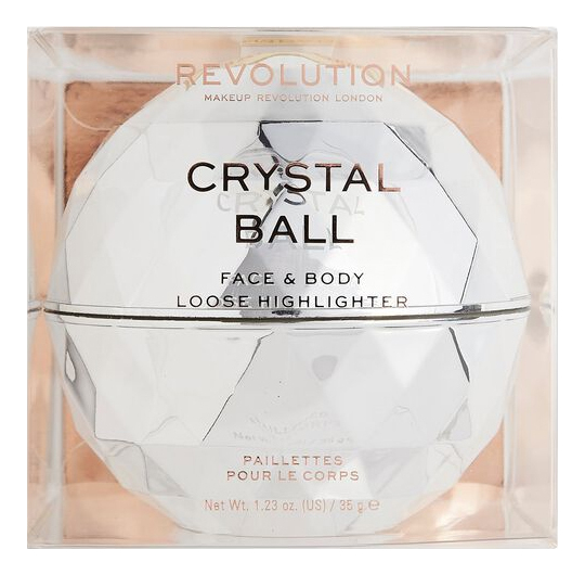 Купить Рассыпчатый хайлайтер для лица Precious Glamour Crystal Ball Face & Body Loose Highlighter, Рассыпчатый хайлайтер для лица Precious Glamour Crystal Ball Face & Body Loose Highlighter, Makeup Revolution