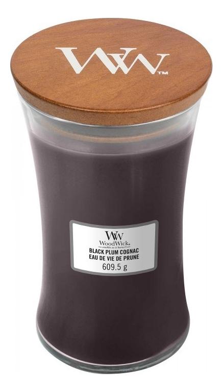 Купить Ароматическая свеча Black Plum Cognac: свеча 609, 5г, WoodWick