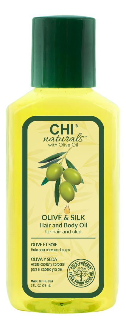 Купить Масло для волос и тела Olive Organics Olive & Silk Hair And Body Oil 59мл, Масло для волос и тела Olive Organics Olive & Silk Hair And Body Oil 59мл, CHI