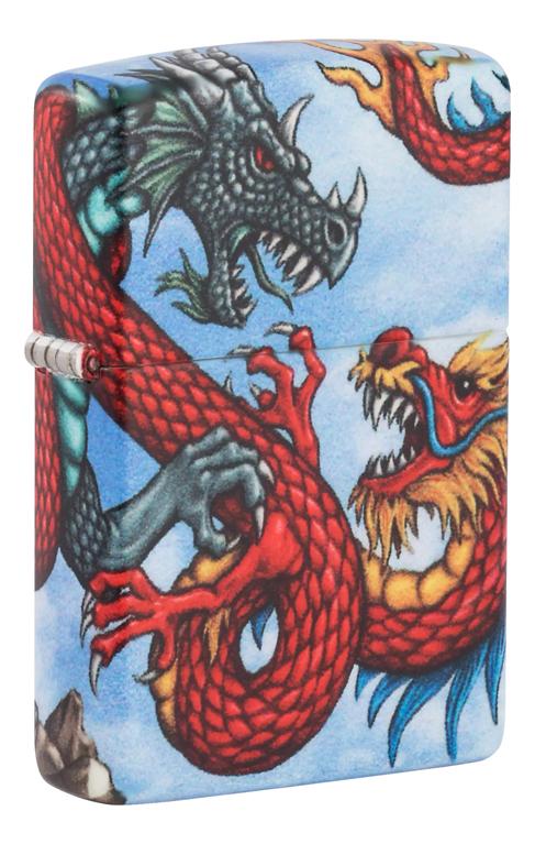 Купить Зажигалка бензиновая Dragon Design 49354, Zippo