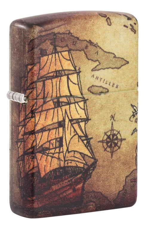 Купить Зажигалка бензиновая Pirate Ship Design 49355, Zippo