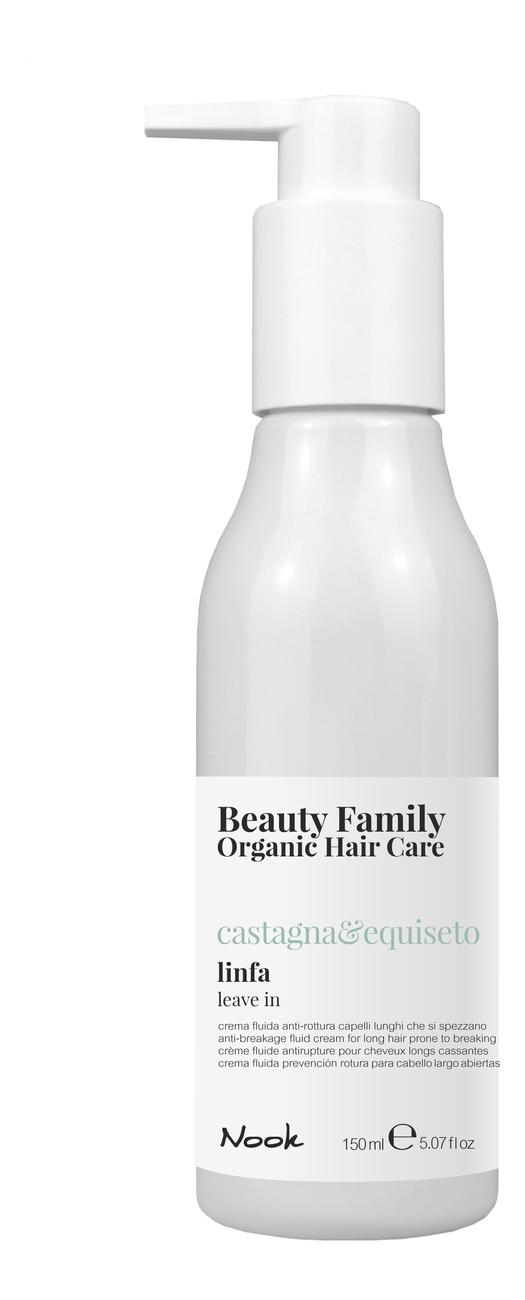 Купить Укрепляющий жидкий крем-флюид для ломких и секущихся волос Beauty Family Linfa Castagna & Equiseto 150мл, Укрепляющий жидкий крем-флюид для ломких и секущихся волос Beauty Family Linfa Castagna & Equiseto 150мл, Nook