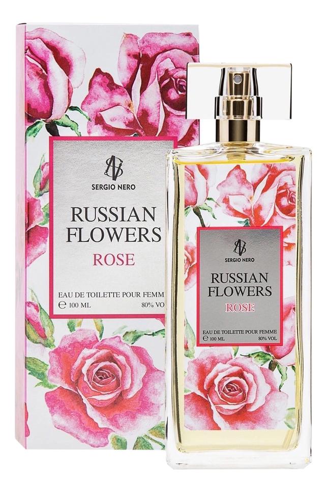 Russian Flowers Rose: туалетная вода 100мл summer rose туалетная вода 100мл