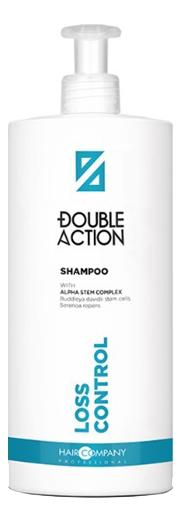 Фото - Шампунь против выпадения волос Double Action Loss Control Shampoo: Шампунь 1000мл шампунь против выпадения волос semi di lino scalp care energizing shampoo 1000мл шампунь 1000мл