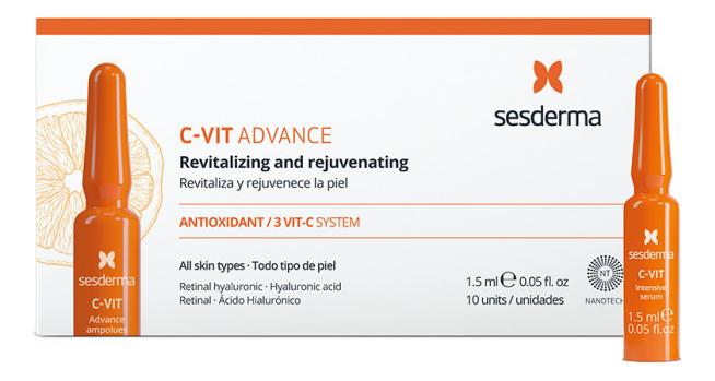 Купить Сыворотка для лица с витамином С C-VIT Advante Ampoules: Сыворотка 10*1, 5мл, Sesderma