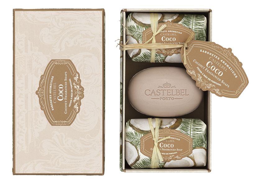 Купить Мыло Coconut: мыло 3*150г, Castelbel Porto