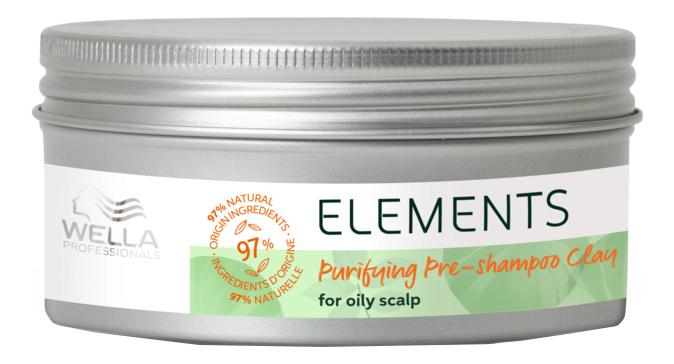 Купить Очищающая глина для кожи головы перед мытьем шампунем Elements Purifying Pre-Shampoo Clay 225мл, Wella