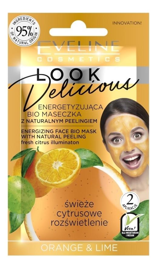 Купить Bio маска для лица с натуральным скрабом Апельсин и лайм Look Delicious Orange & Lime Mask 10мл, Bio маска для лица с натуральным скрабом Апельсин и лайм Look Delicious Orange & Lime Mask 10мл, Eveline