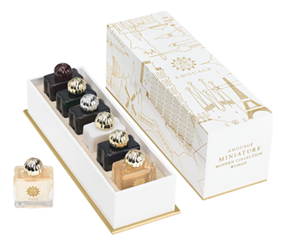 Amouage Miniature Collection Modern Womens: парфюмерная вода 6*7,5мл (Myths + Lyric Memoir Jubilation 25 Journey Epic)