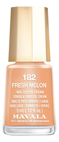 Лак для ногтей Nail Color Cream 5мл: 182 Fresh melon, MAVALA  - Купить