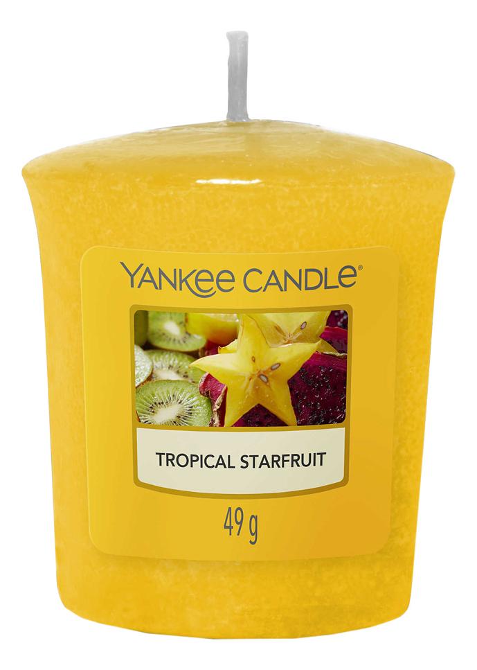 Купить Ароматическая свеча Tropical Starfruit: свеча 49г, Yankee Candle