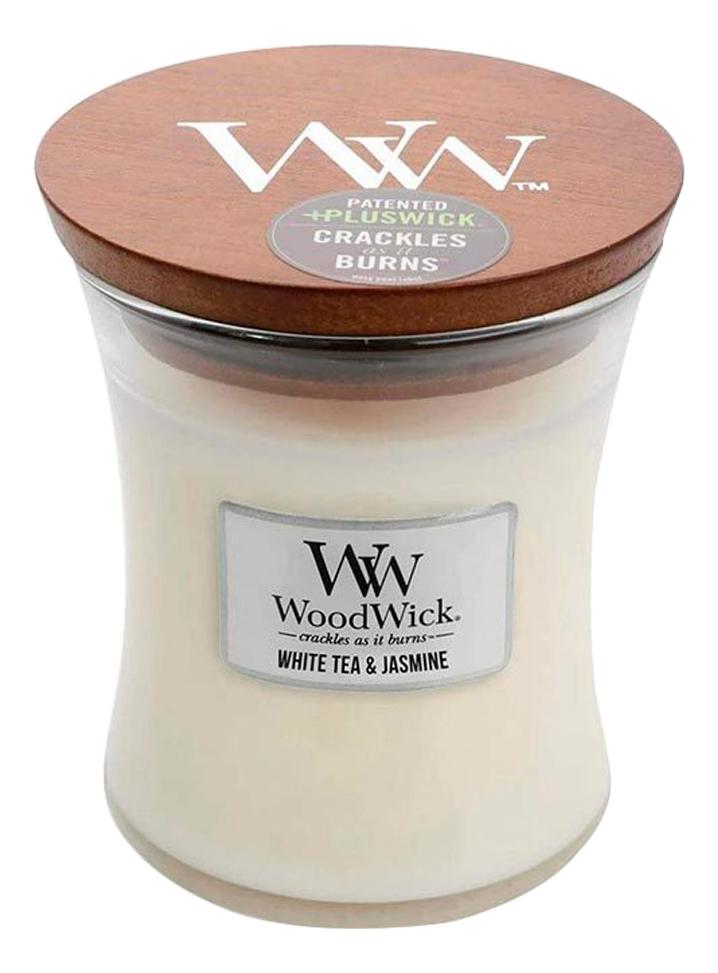 Купить Ароматическая свеча White Tea & Jasmine: свеча 275г, Ароматическая свеча White Tea & Jasmine, WoodWick
