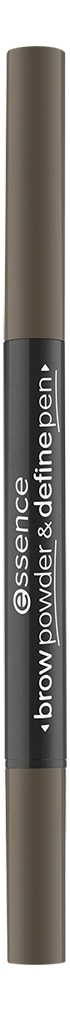 Купить Контурный карандаш и пудра для бровей 2 в 1 Brow Powder & Define Pen: 03 Cool Dark Brown, Контурный карандаш и пудра для бровей 2 в 1 Brow Powder & Define Pen, essence