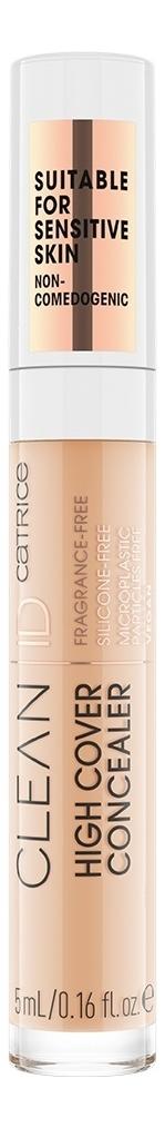 Консилер для лица Clean ID High Cover 5мл: 025 Warm Peach, Catrice Cosmetics  - Купить