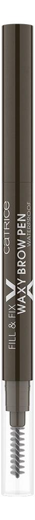 Фото - Контурный карандаш для бровей Fill & Fix Waxy Brow Pen Waterproof: 030 Dark Brown гель для бровей brow fix x eyebrow setting gel dark brown x