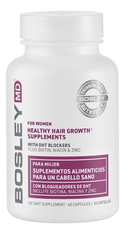 Купить Витаминно-минеральный комплекс для оздоровления и роста волос для женщин For Women Healthy Hair Growth Supplements: 60 капсул, Bosley