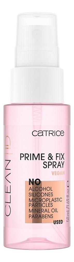 Купить Спрей-фиксатор макияжа Clean ID Prime & Fix Spray 50мл, Спрей-фиксатор макияжа Clean ID Prime & Fix Spray 50мл, Catrice Cosmetics