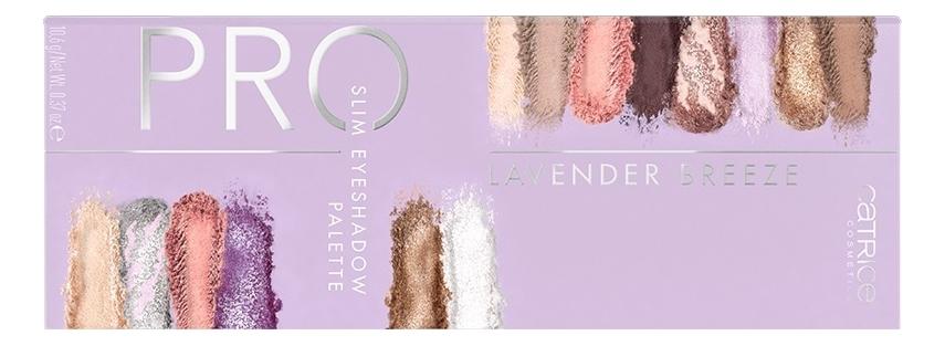 Палетка теней для век Pro Slim Eyeshadow Palette Lavender Breeze Sea Of Blossoms 10,6г палетка теней для век viper eyeshadow palette