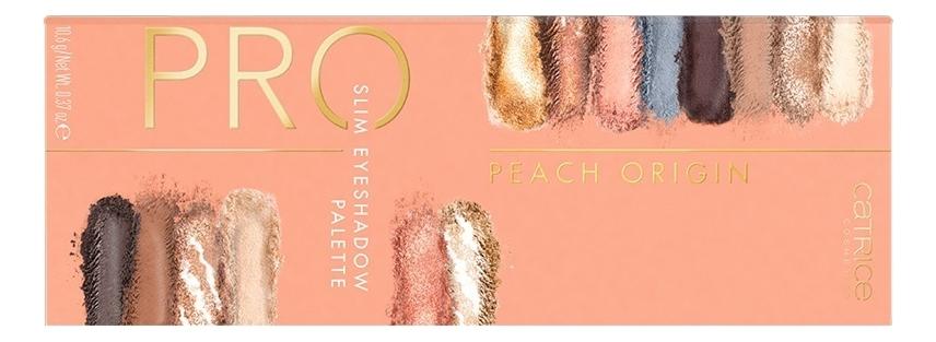 Палетка теней для век Pro Slim Eyeshadow Palette Peach Origin Golden Afterglow 10,6г guerlain palette golden bee палетка теней для век