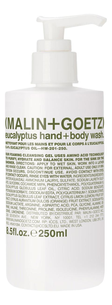 Купить Гель-мыло для тела и рук Эвкалипт Eucalyptus Hand + Body Wash: Гель-мыло 250мл, MALIN+GOETZ