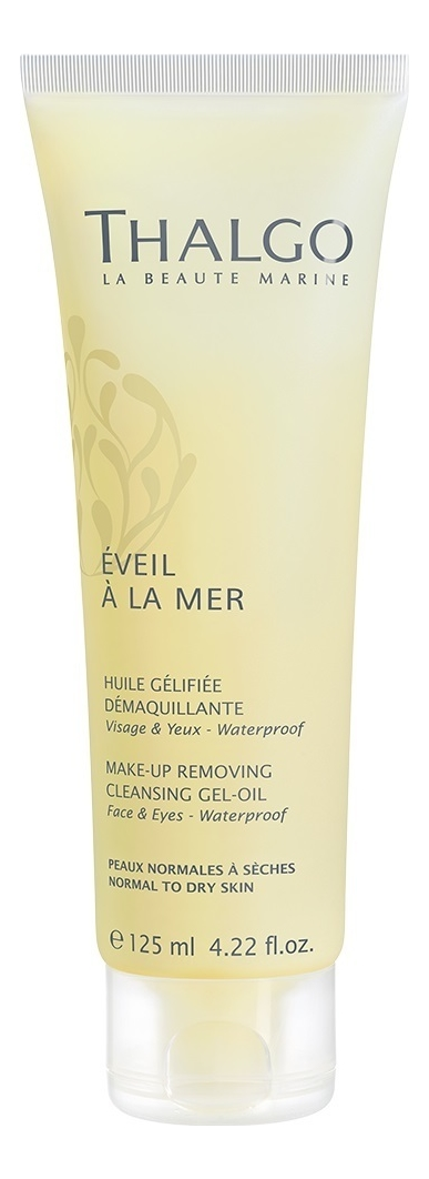 Купить Очищающее гель-масло для снятия водостойкого макияжа Eveil A La Mer Huile Gelifiee Demaquillante 125мл, Thalgo