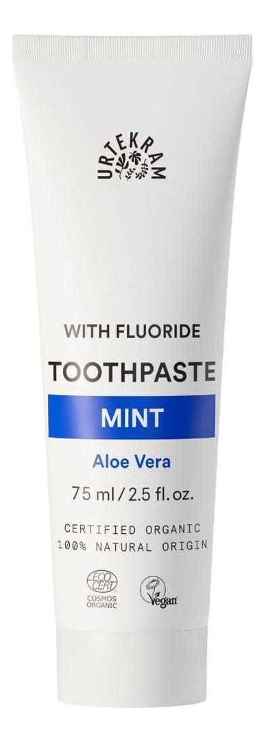Купить Зубная паста освежающая с фтором With Fluoride Toothpaste Mint 75мл, Urtekram