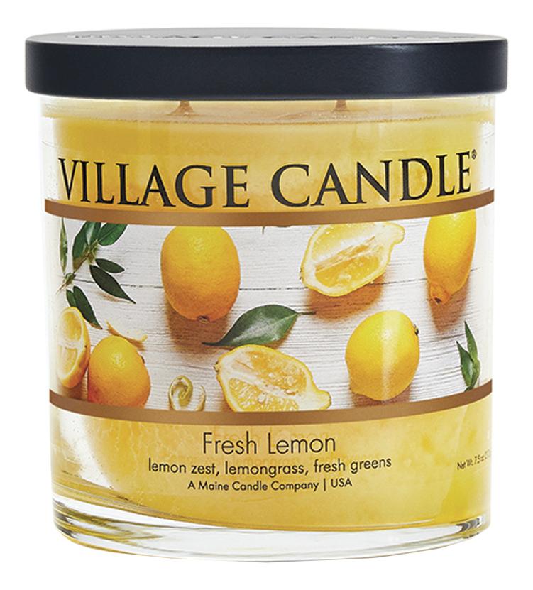 Купить Ароматическая свеча Fresh Lemon: свеча 213г, Village Candle