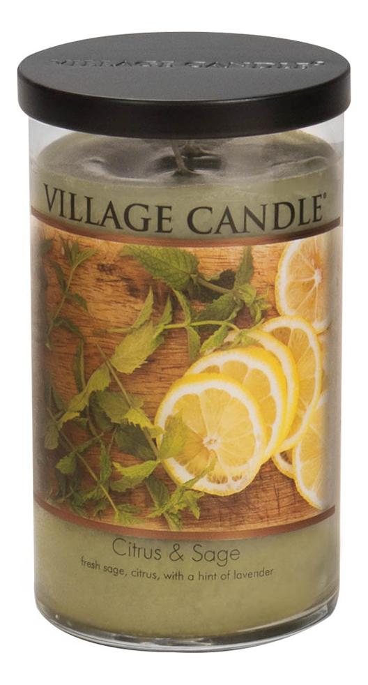Купить Ароматическая свеча Citrus & Sage: свеча 538г, Ароматическая свеча Citrus & Sage, Village Candle