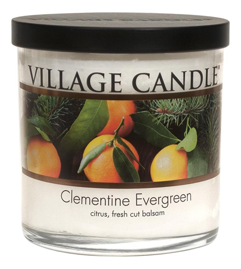Купить Ароматическая свеча Clementine Evergreen: свеча 213г, Village Candle