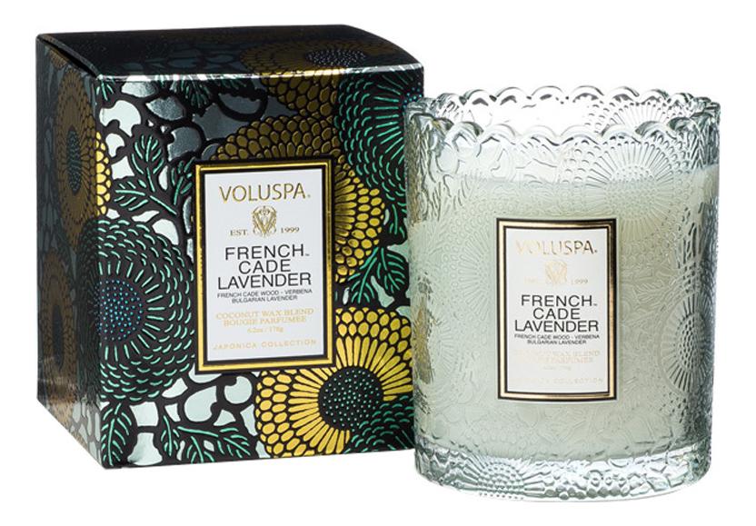 Фото - Ароматическая свеча French Cade Lavender (лаванда и вербена): свеча в подарочной коробке 176г ароматическая свеча lavender vanilla лаванда и ваниль свеча 680г