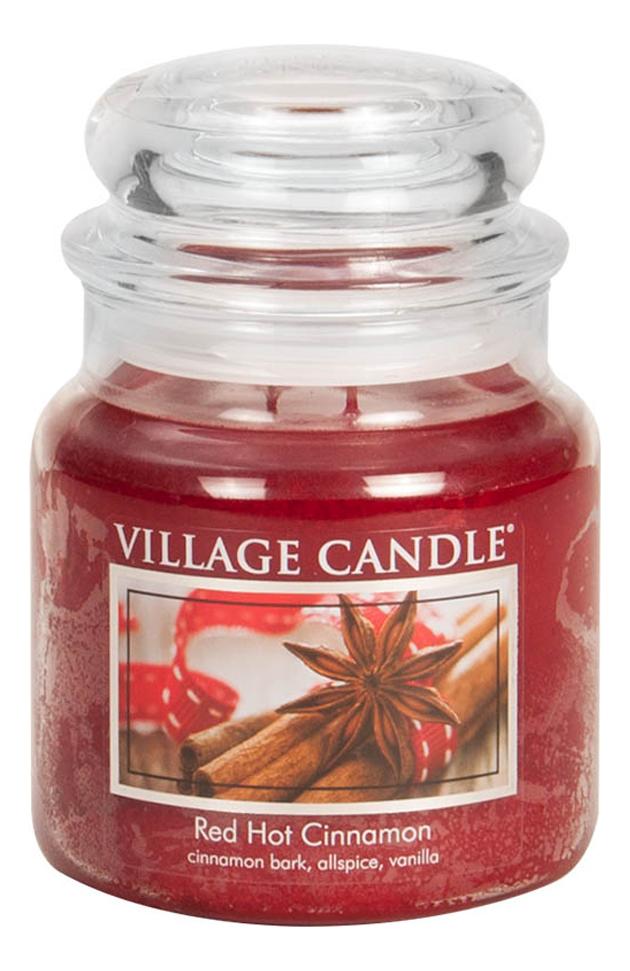 Купить Ароматическая свеча Red Hot Cinnamon: свеча 389г, Village Candle