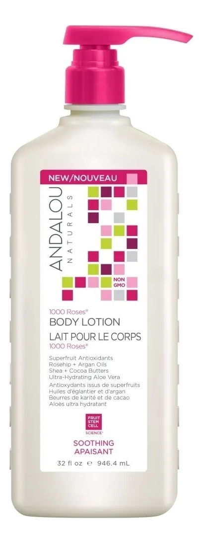 Купить Успокаивающий лосьон для тела Soothing 1000 Roses Body Lotion: Лосьон 946, 4мл, Andalou Naturals