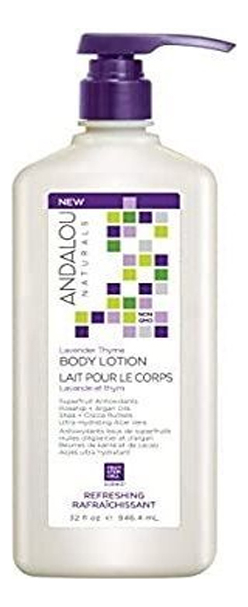Купить Освежающий лосьон для тела Lavender Thyme Body Lotion Refreshing (лаванда и тимьян): Лосьон 946, 4мл, Andalou Naturals