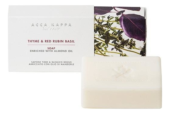 Купить Твердое туалетное мыло Тимьян и красно-рубиновый базилик Thyme & Red Rubin Basil Soap 150г, Твердое туалетное мыло Тимьян и красно-рубиновый базилик Thyme & Red Rubin Basil Soap 150г, Acca Kappa